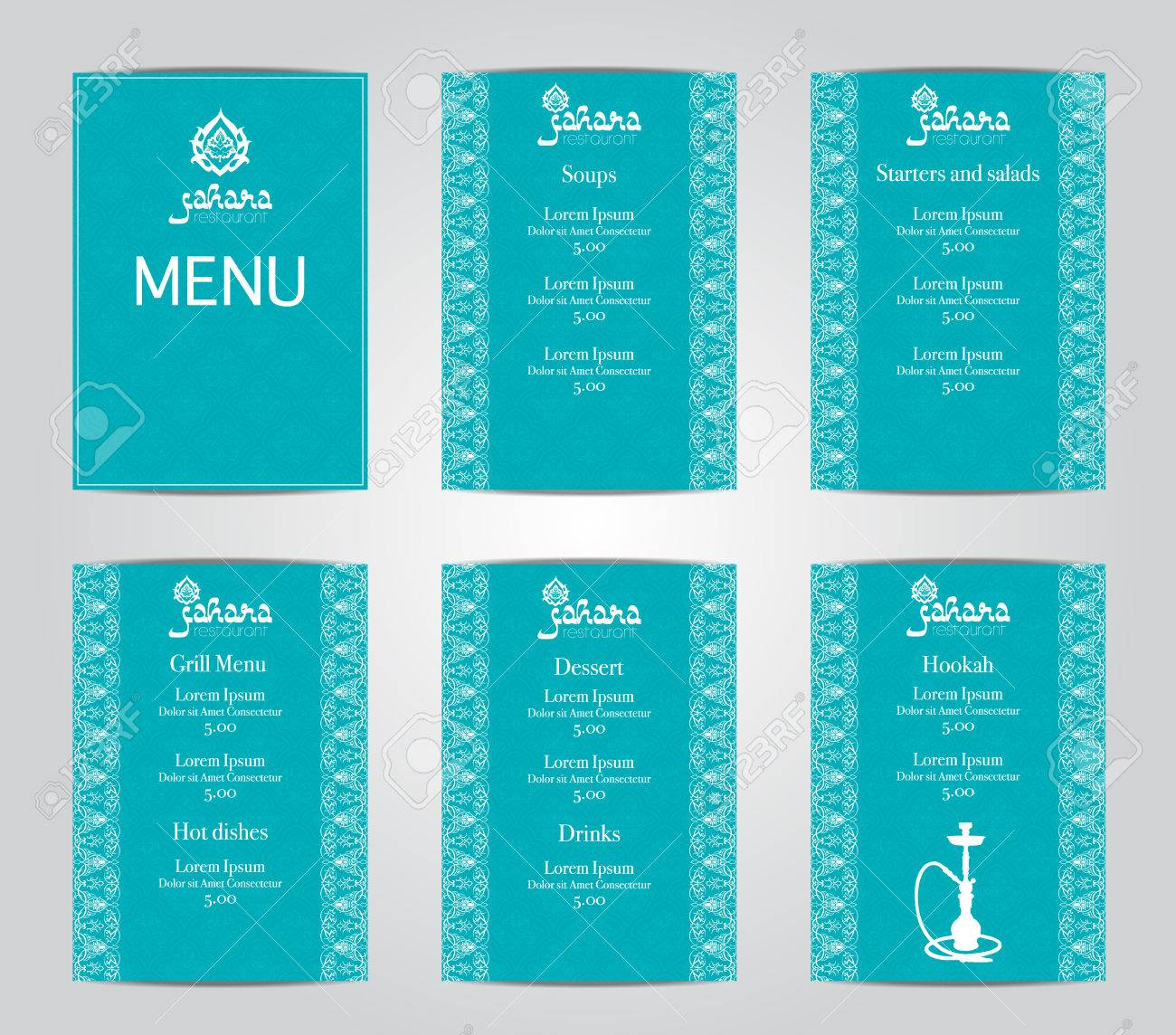 Vector Illustration Of A Menu Card Template Design For A Restaurant Royalty Free Cliparts Vectors And Stock Illustration Image 60242431
