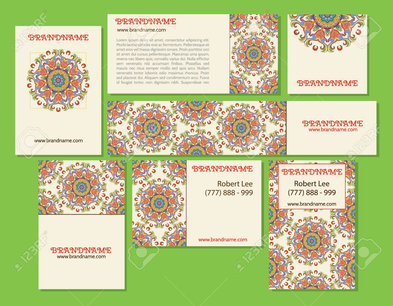 Collection Of Ethnic Cardsmenu Or Wedding Invitations With Indian