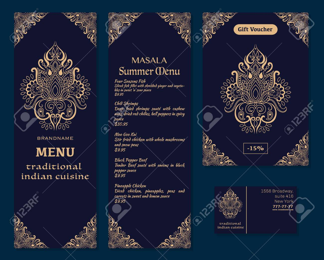 A vector illustration of a menu for a restaurant or cafe indian logos lotus flower illustration a vector illustration of a menu for a restaurant or cafe indian oriental cuisine business mightylinksfo