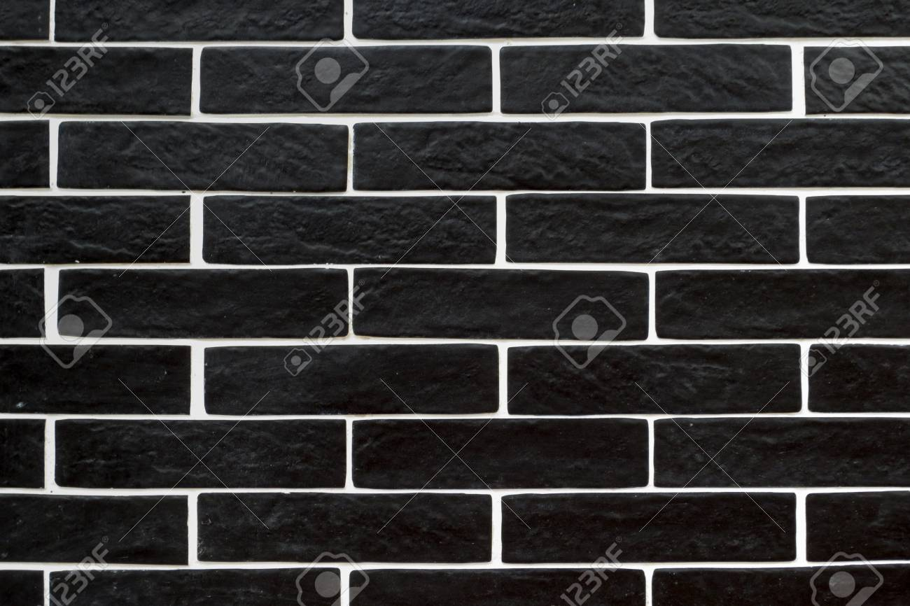 Black Brick Tiles With White Grouting Stock Photo Picture And Royalty Free Image Image 104204518