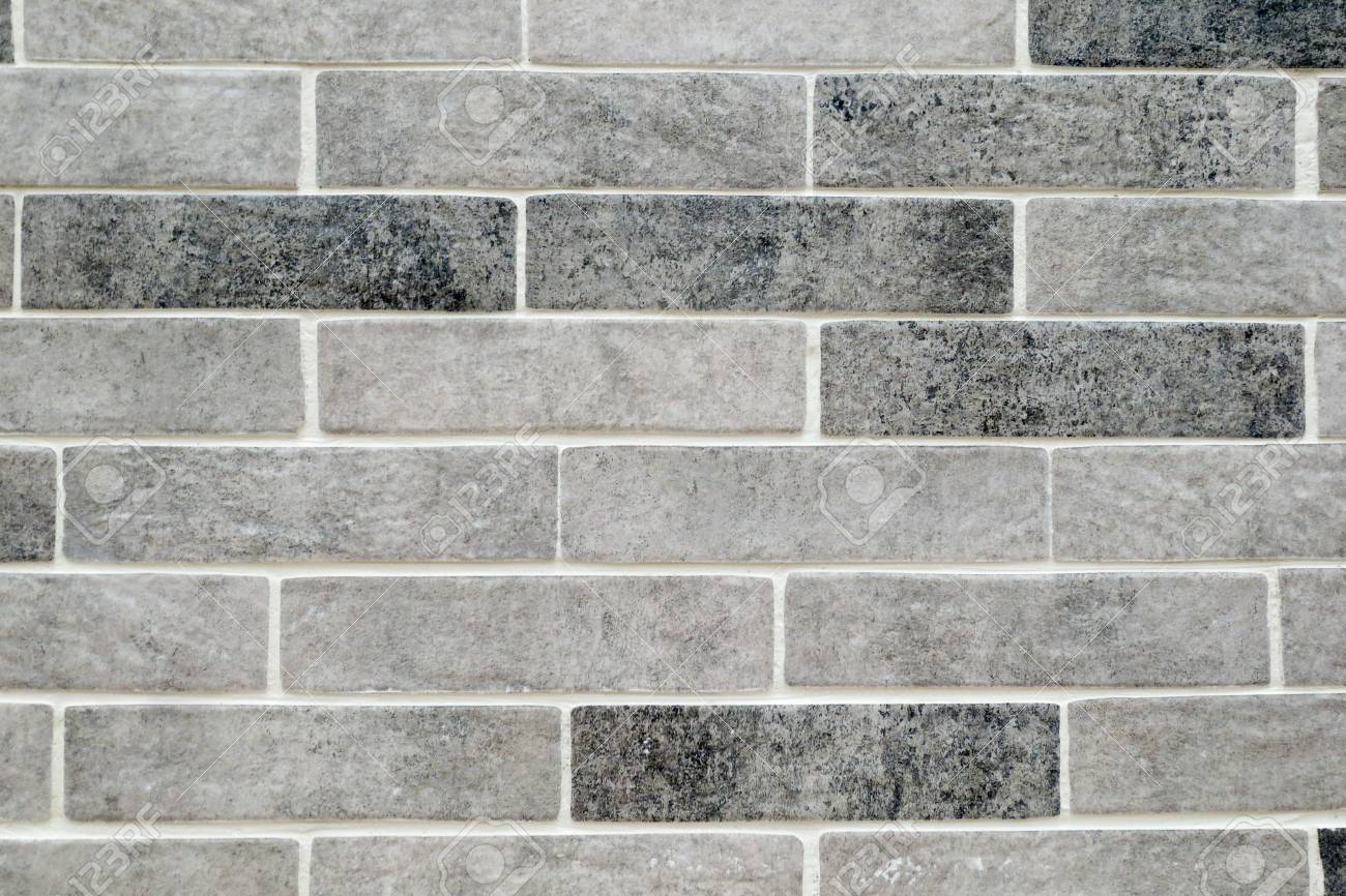 Mottled Grey Brick Tiles With White Grouting Background Stock Photo Picture And Royalty Free Image Image 120566359