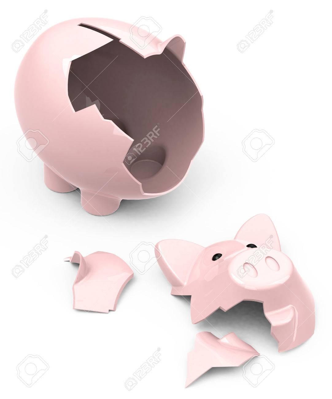the broken piggy bank - 26451273