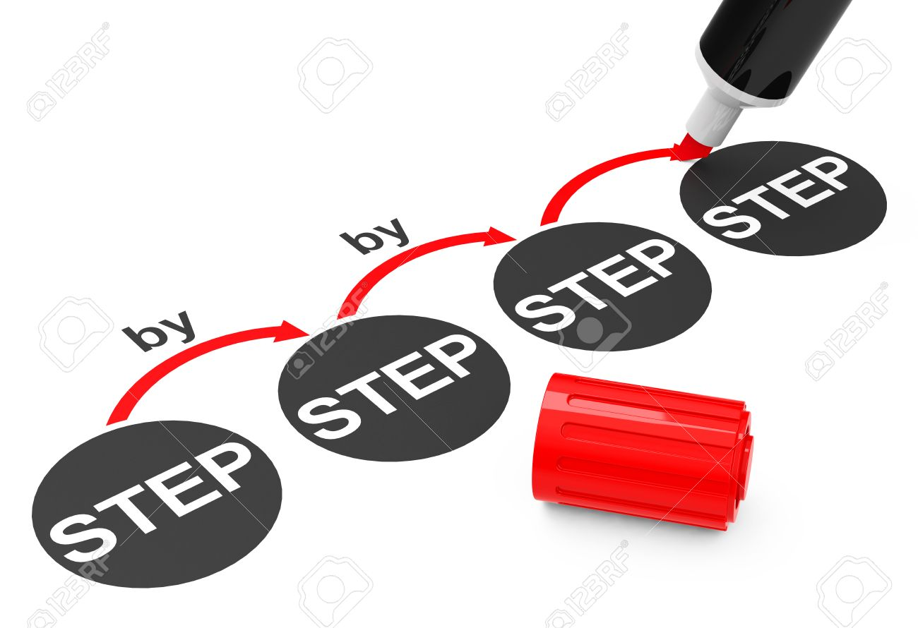the step by step process - 27078157