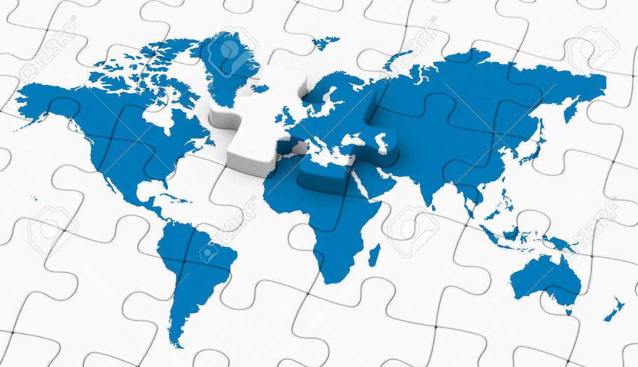 The world map jigsaw stock photo picture and royalty free image stock photo the world map jigsaw gumiabroncs Gallery