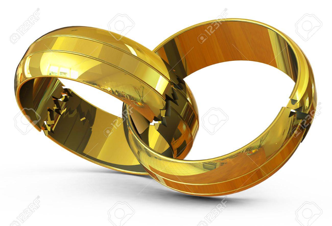 bigstock broken wedding rings image vector stock photo