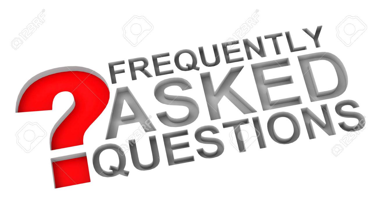 FAQ with red question mark - 27285142