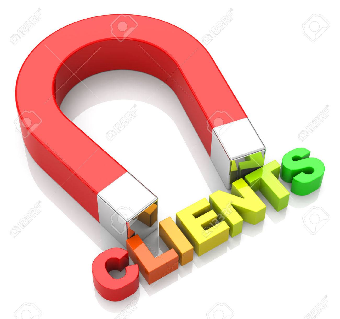 clients attraction by a magnet - 32561698