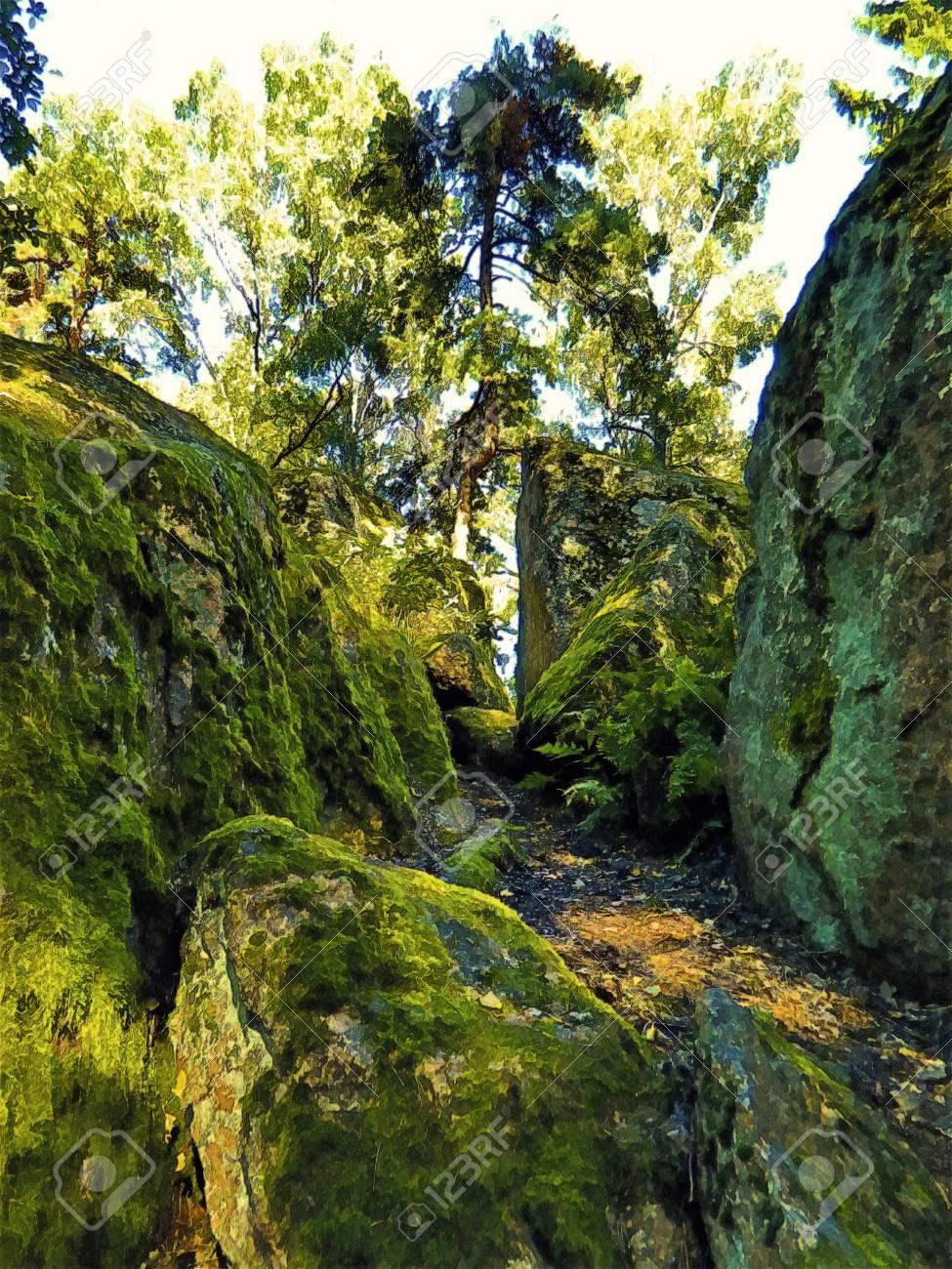 land of emerald cliffs Stock Photo - 11305720