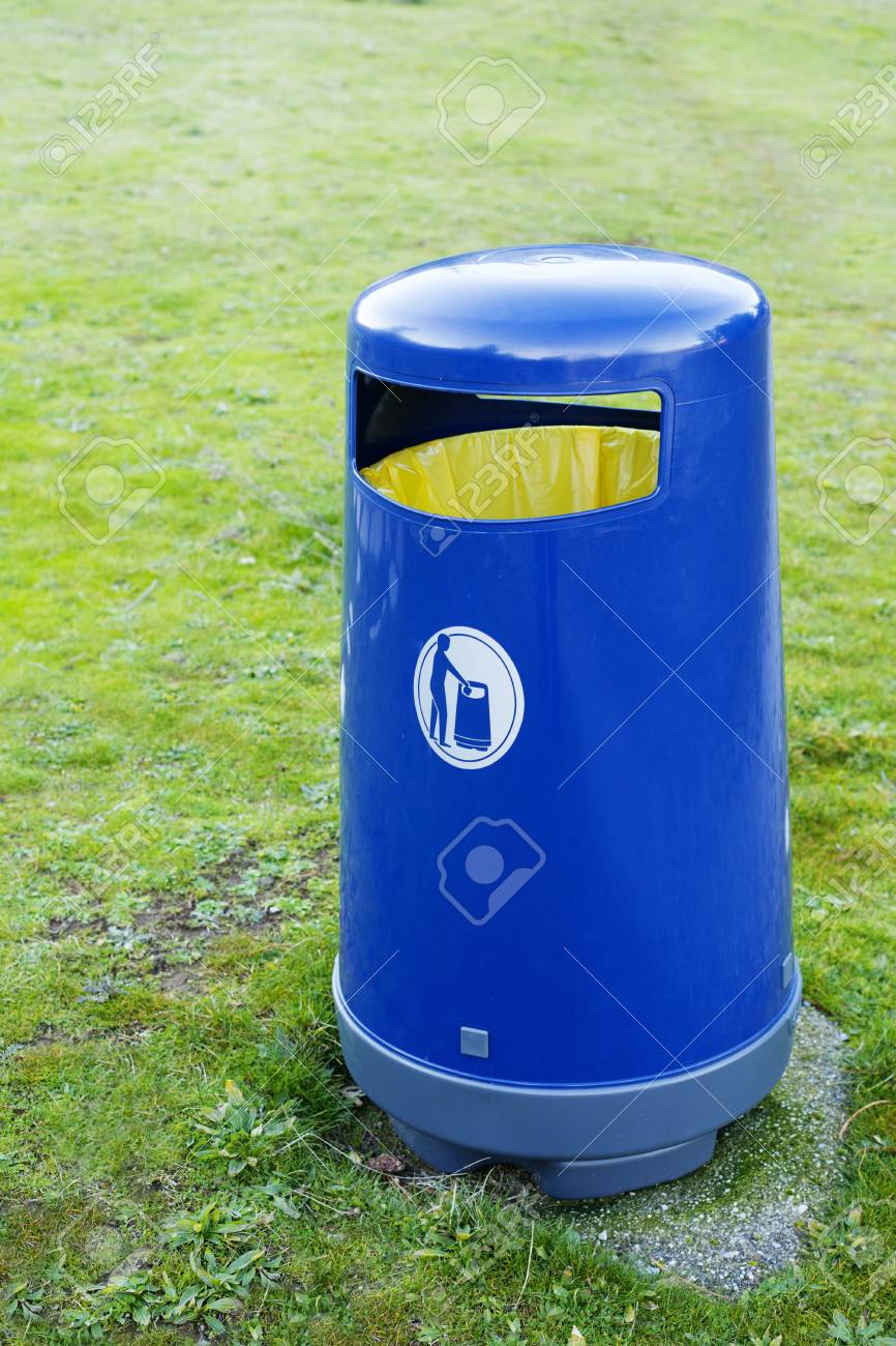 Blur trash for recycling in a Park Stock Photo - 17336510