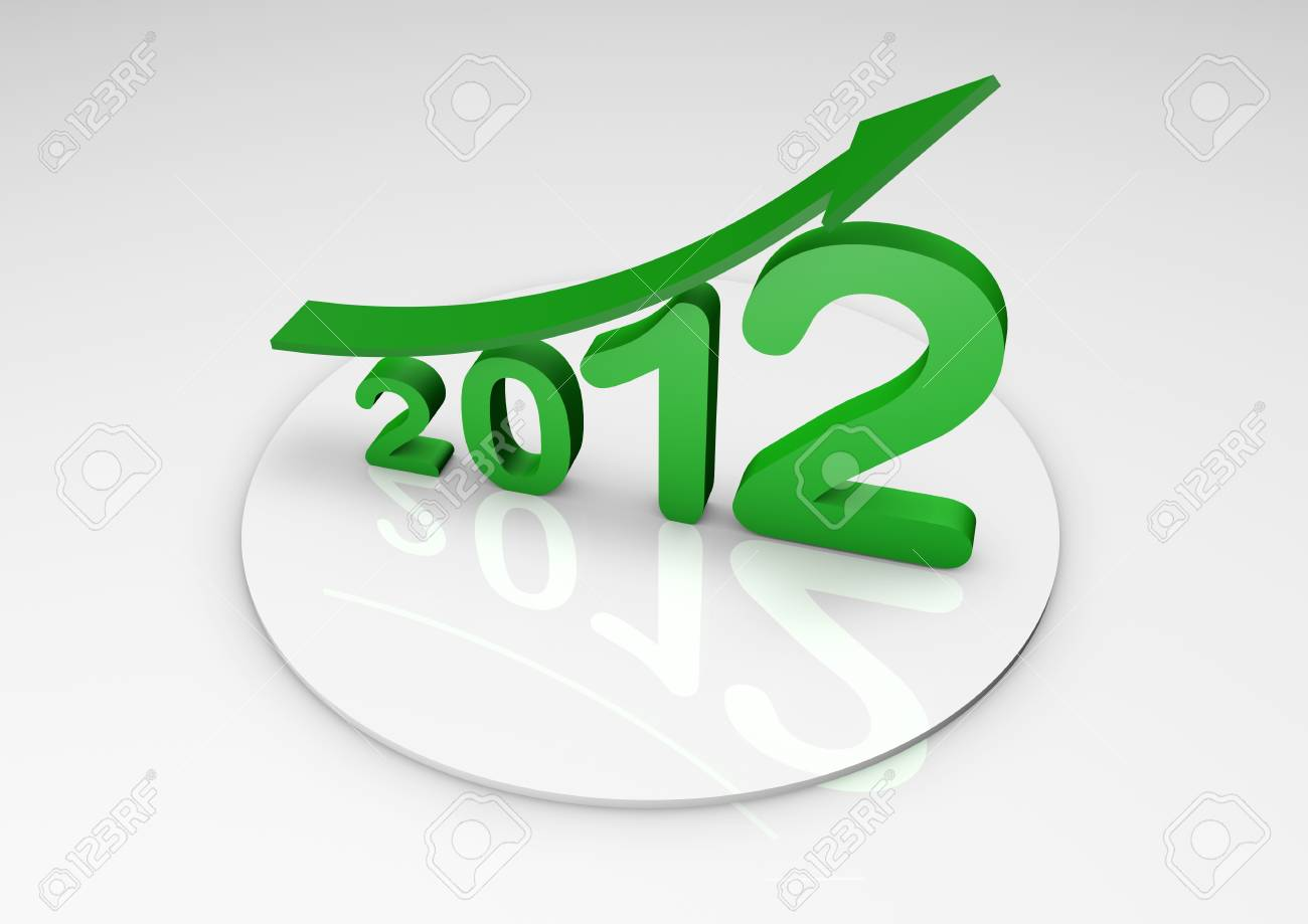 2012 business growth Stock Photo - 9923621