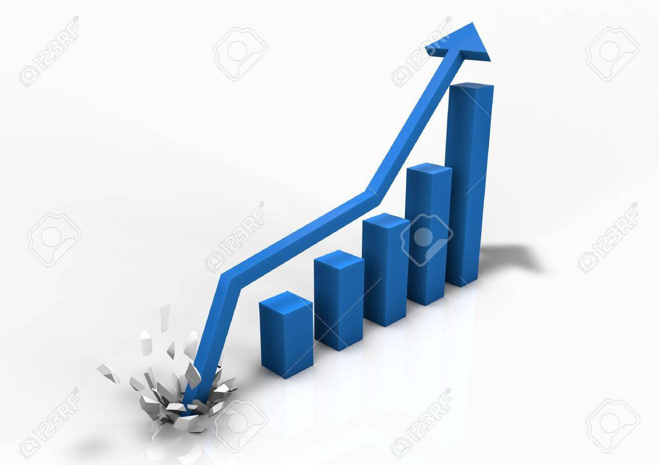 Booming business bar graph Stock Photo - 9923626