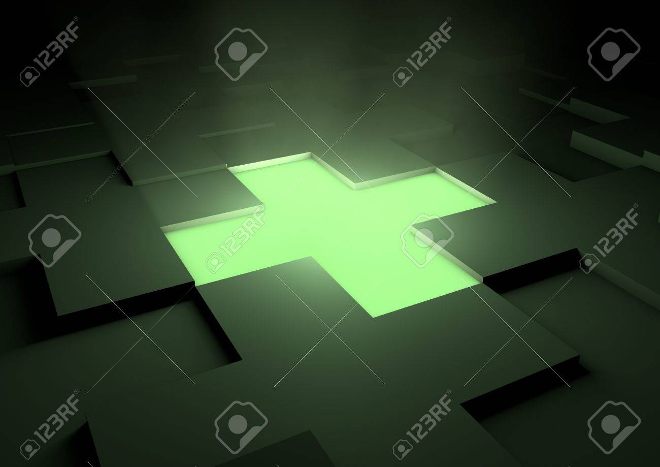 Glowing medical cross Stock Photo - 10273404