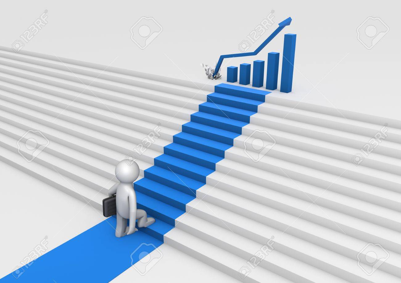 stairs to success Stock Photo - 10385216