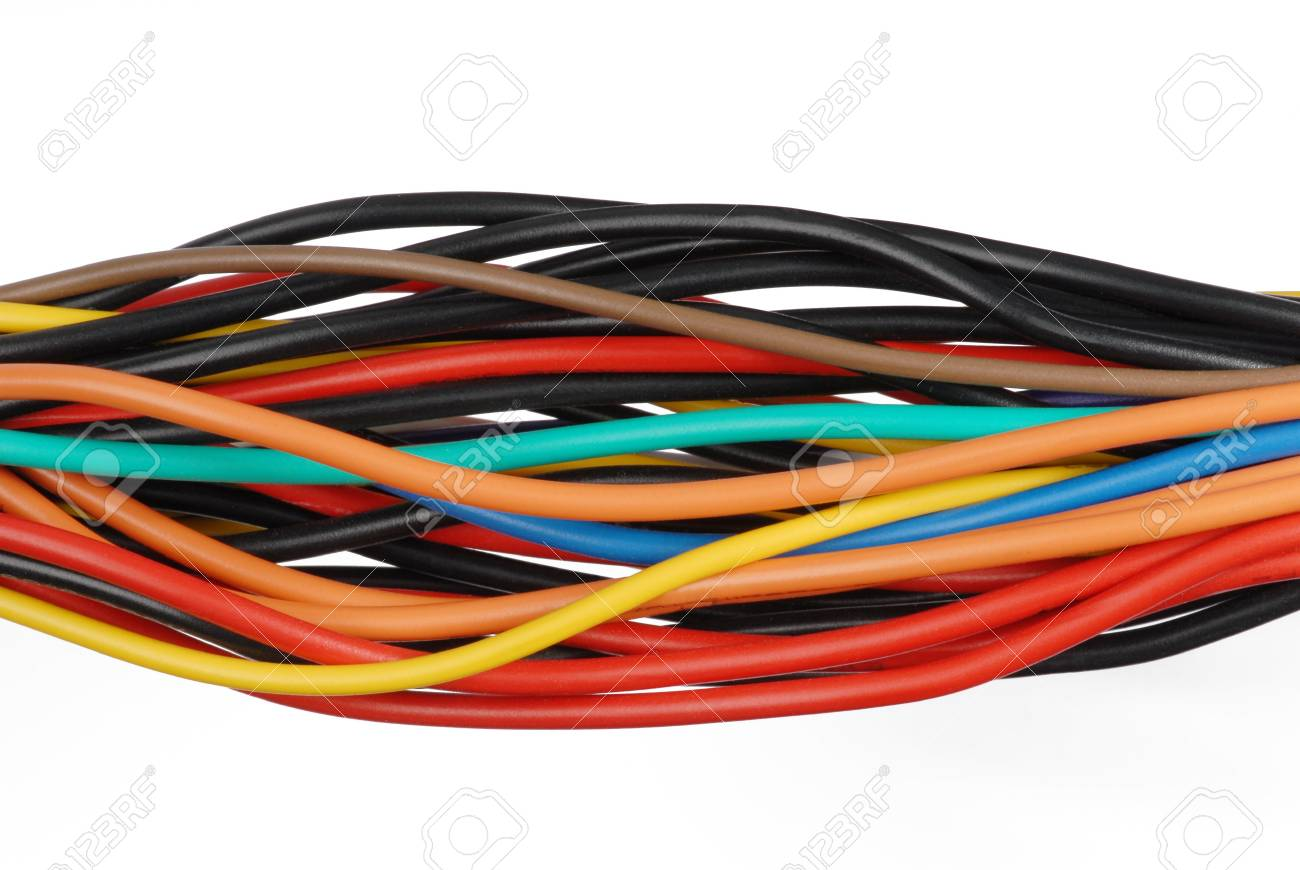 Macro detail of some cables. Stock Photo - 3476659