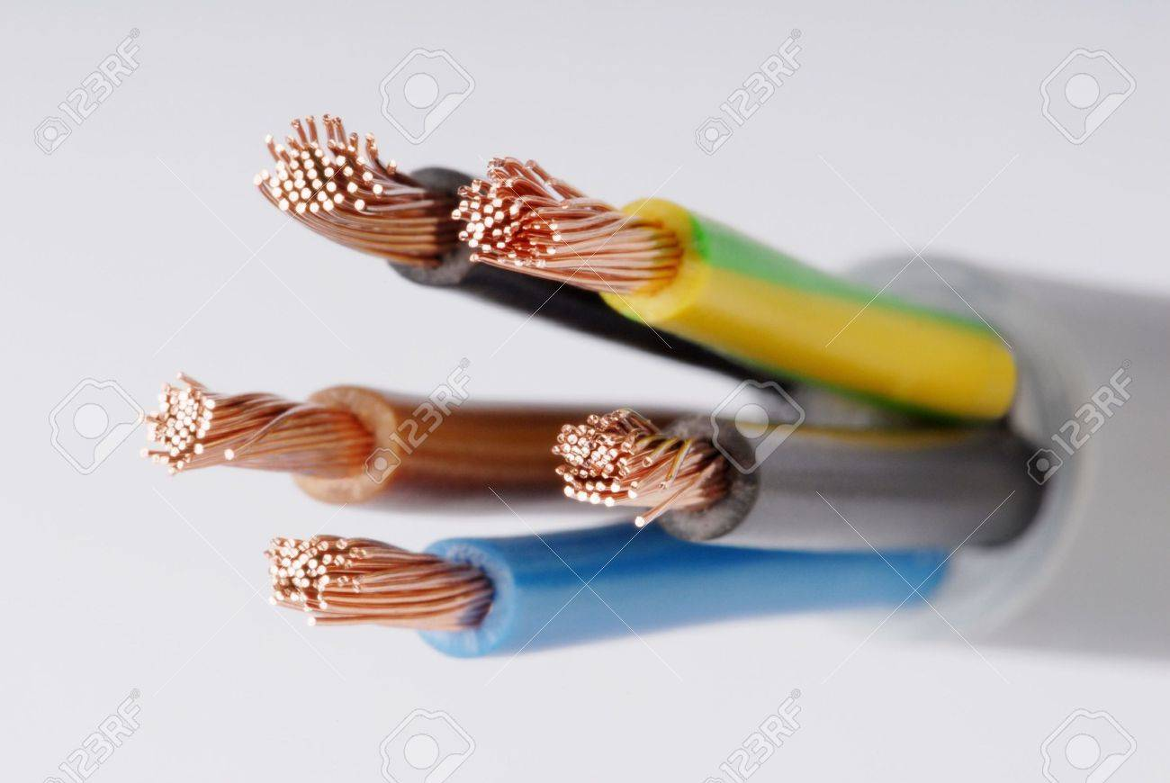 Macro detail of a cable. Stock Photo - 3476554