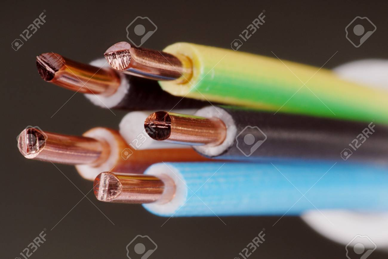 Macro detail of a cable. Stock Photo - 3476626