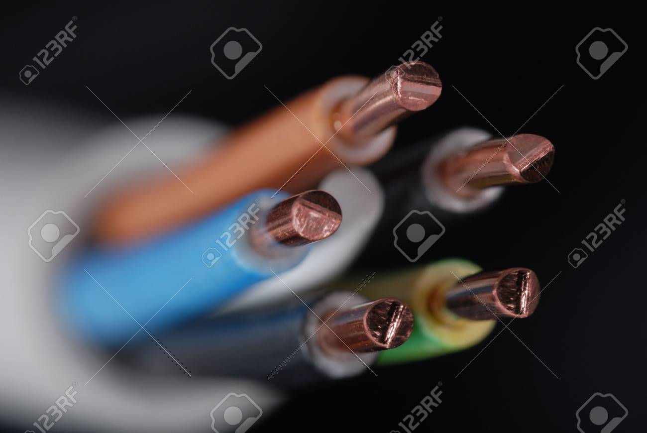 Macro detail of some cables. Stock Photo - 3485221