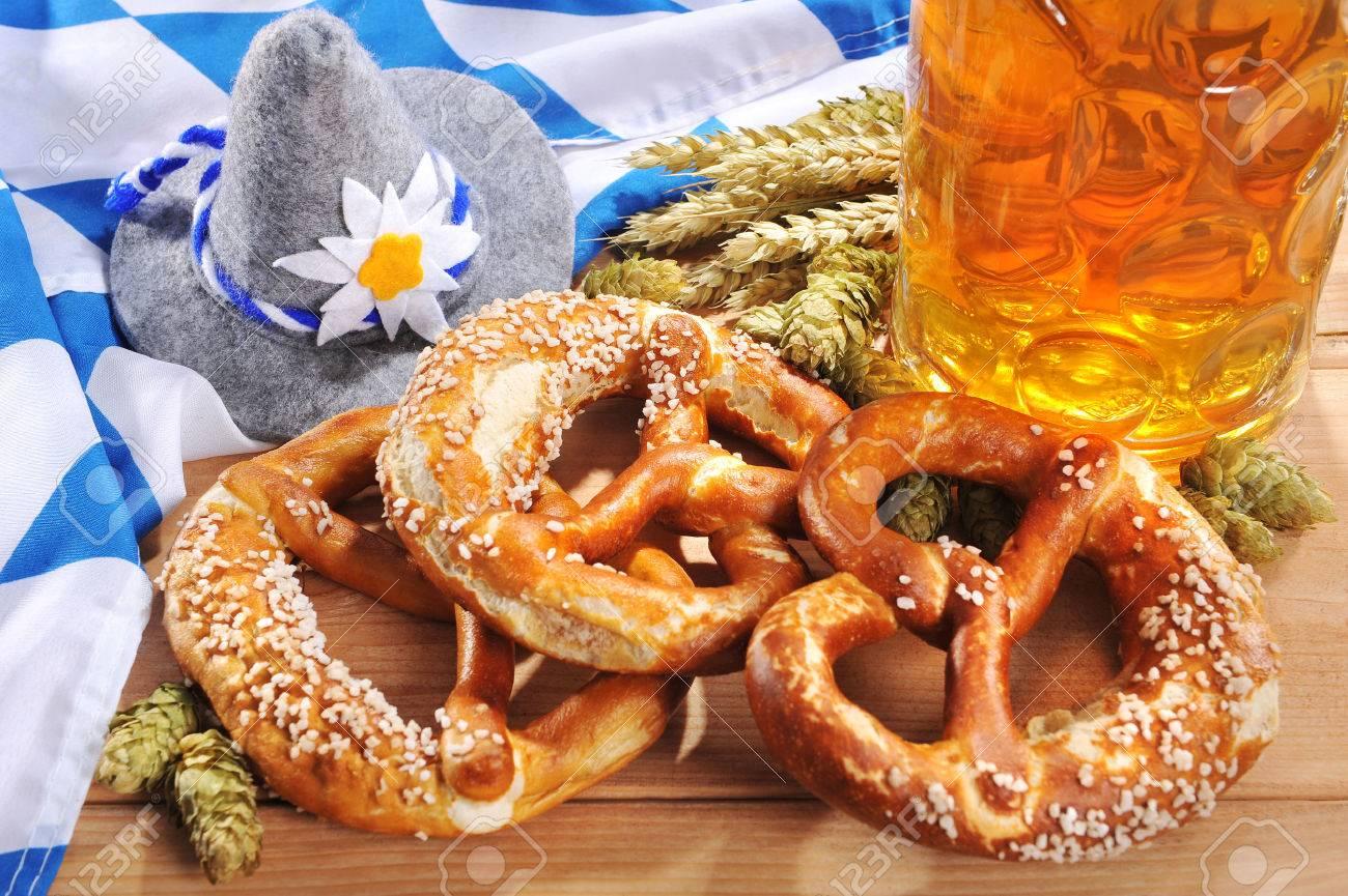 oktoberfest bavarian original soft pretzels with oktoberfest stock
