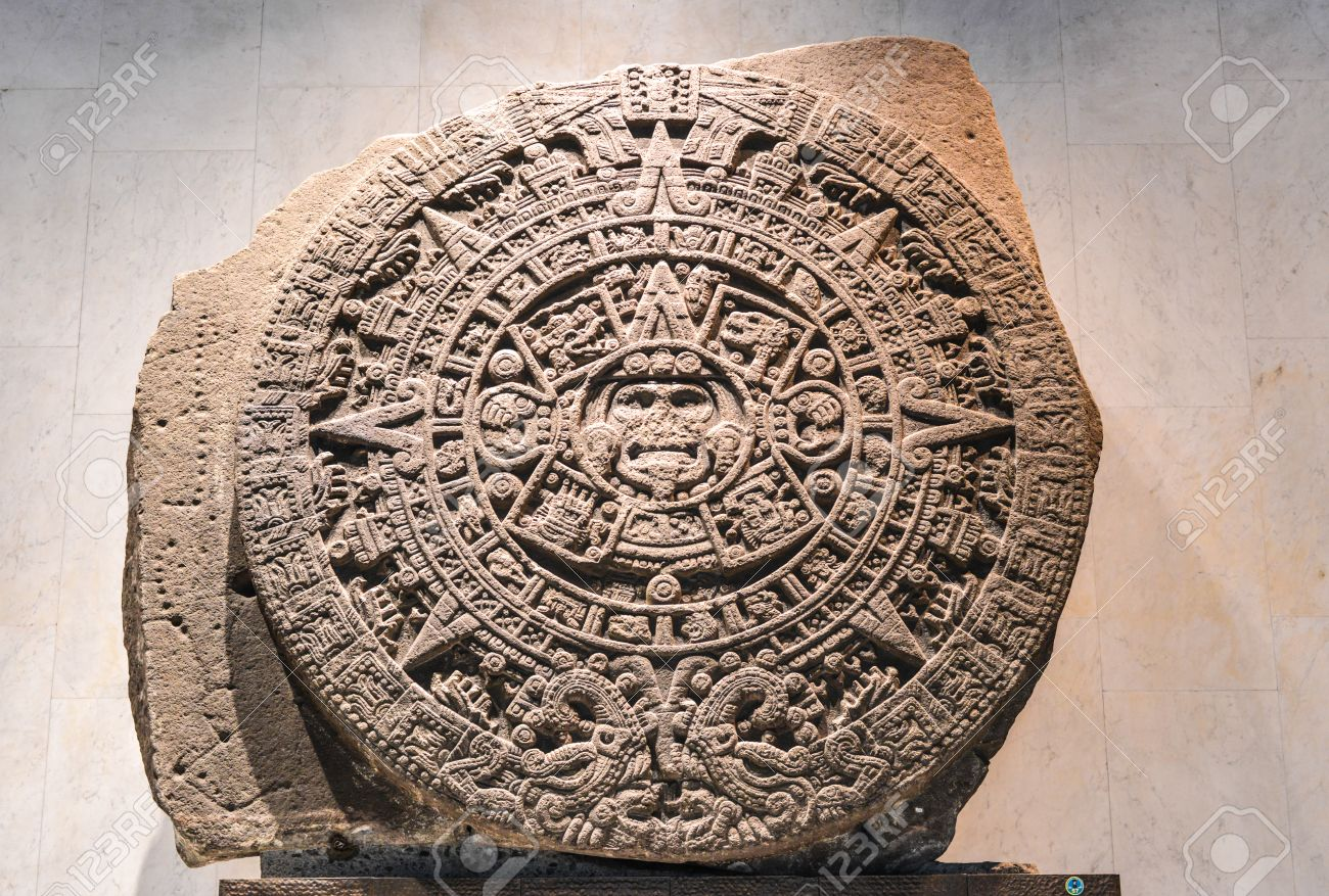 Aztec Calendar Stone.The Aztec Calendar Stone Mexica Sun Stone Stone Of The Sun