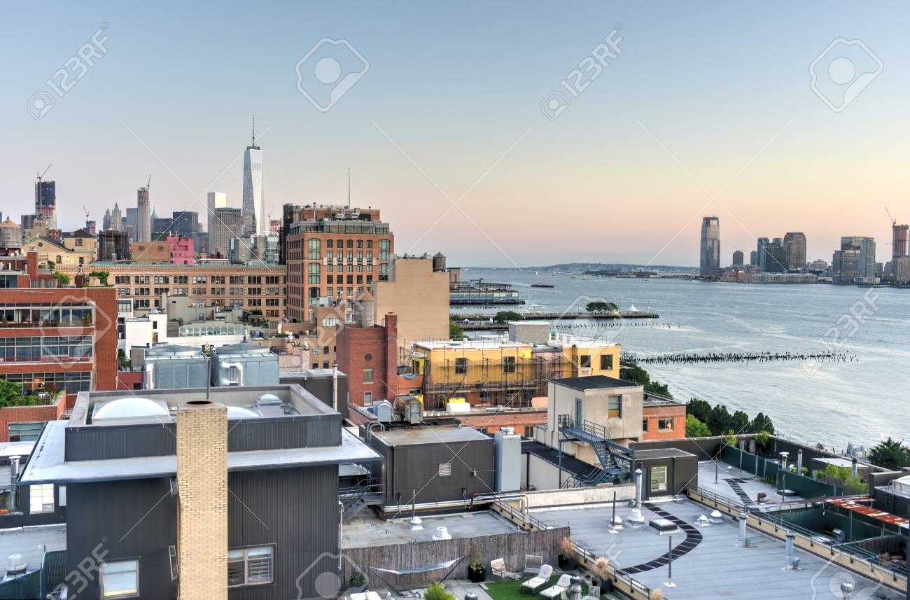 View across Manhattan Meatpacking District and Chelsea into Downtown, New York City. - 43903635