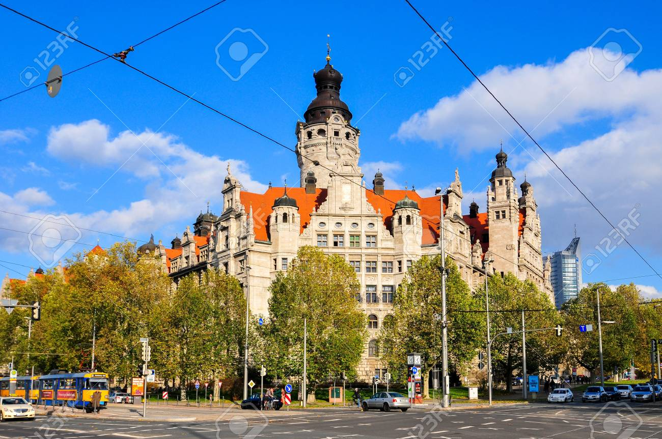 Neues Rathaus New Town Hall In Leipzig Germany Stock Photo Picture And Royalty Free Image Image 62235637