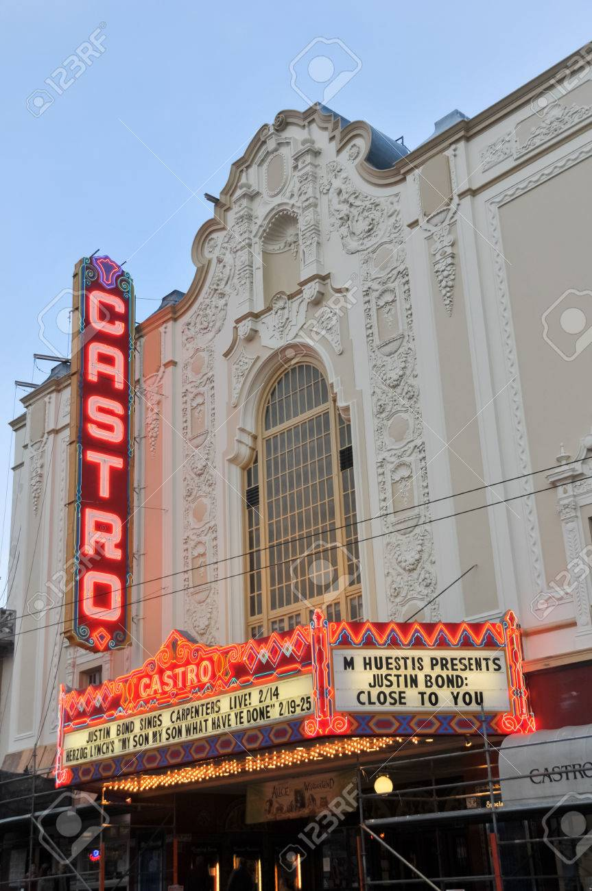 san francisco, california - february 14, 2010: castro theater