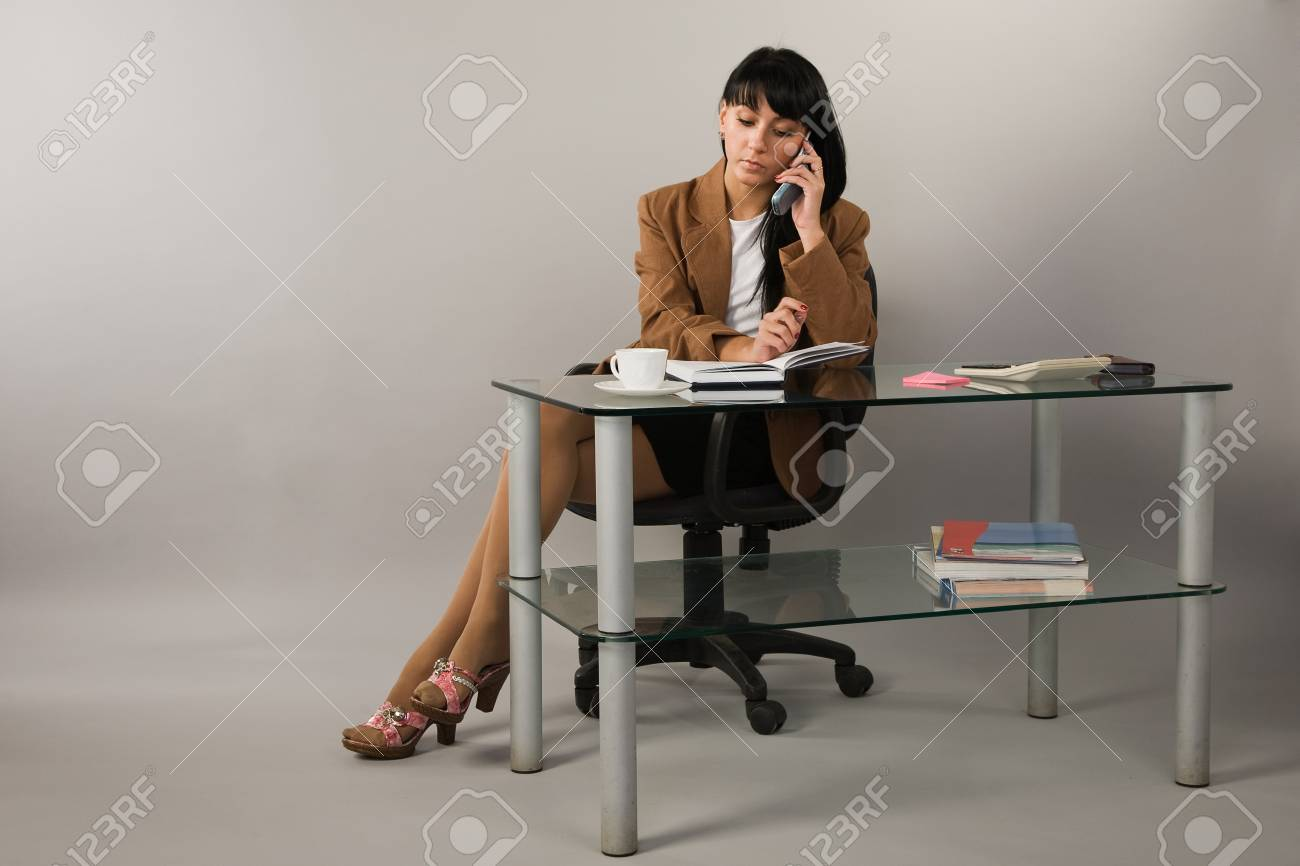 Portrait of the secretary in a office Stock Photo - 9058363