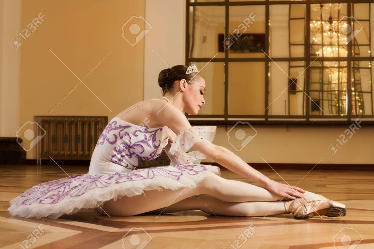 Portrait of the young ballerina in ballet pose Stock Photo - 9904076