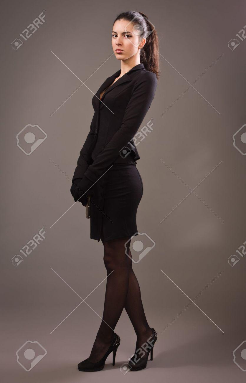 Фото девушки в строгом костюме 16 фотография