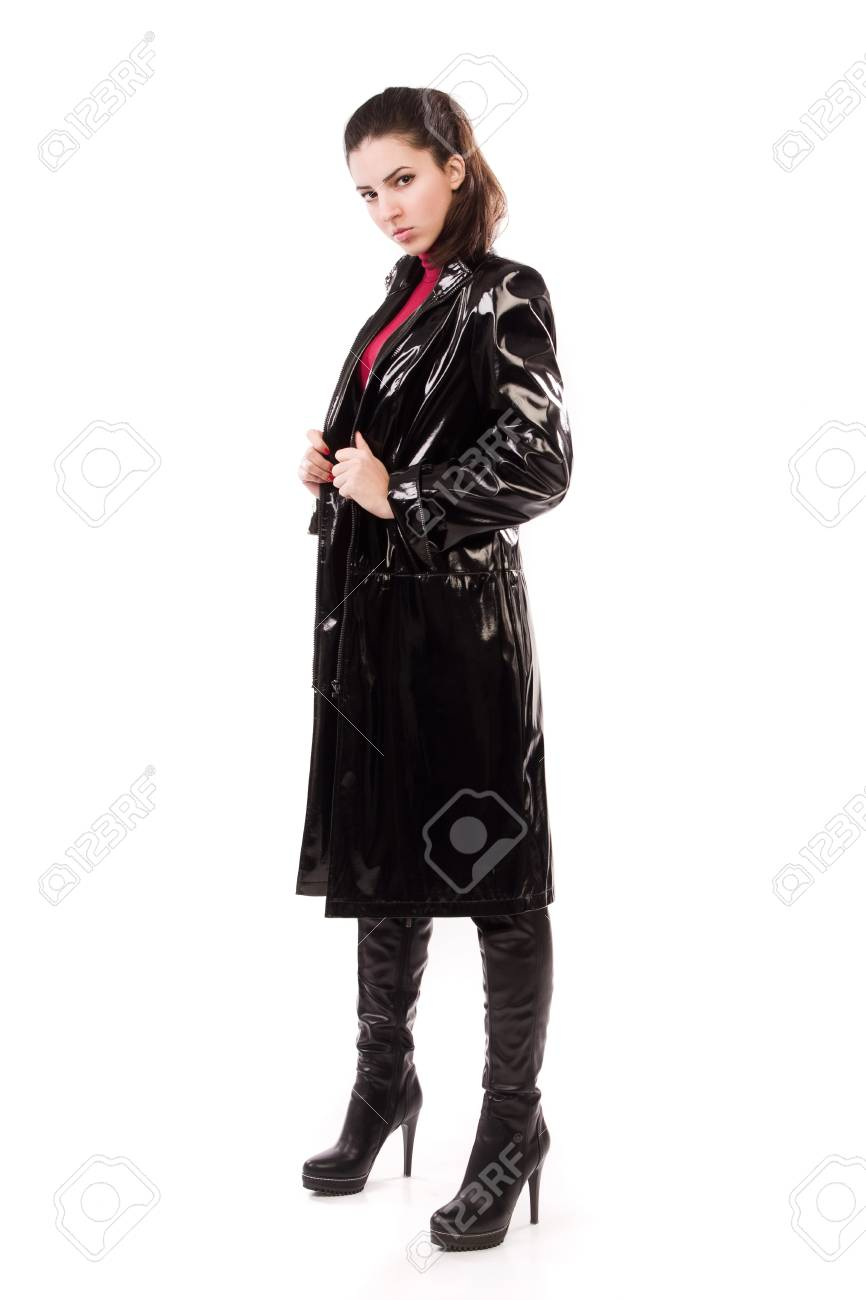 Fashionable casual girl in a black over white Stock Photo - 16793408