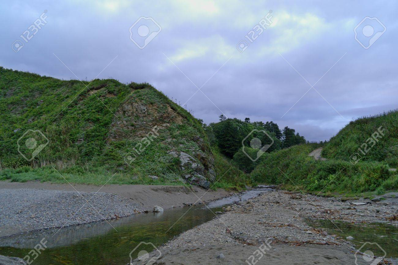 The mouth of a small river Stock Photo - 17205057