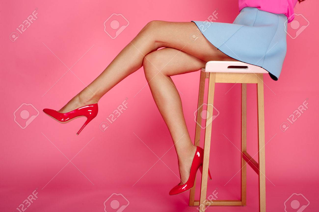 Pink And Red Heels