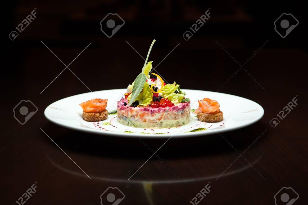 Hering unter dem pelzmantel russischer salat molekulare küche