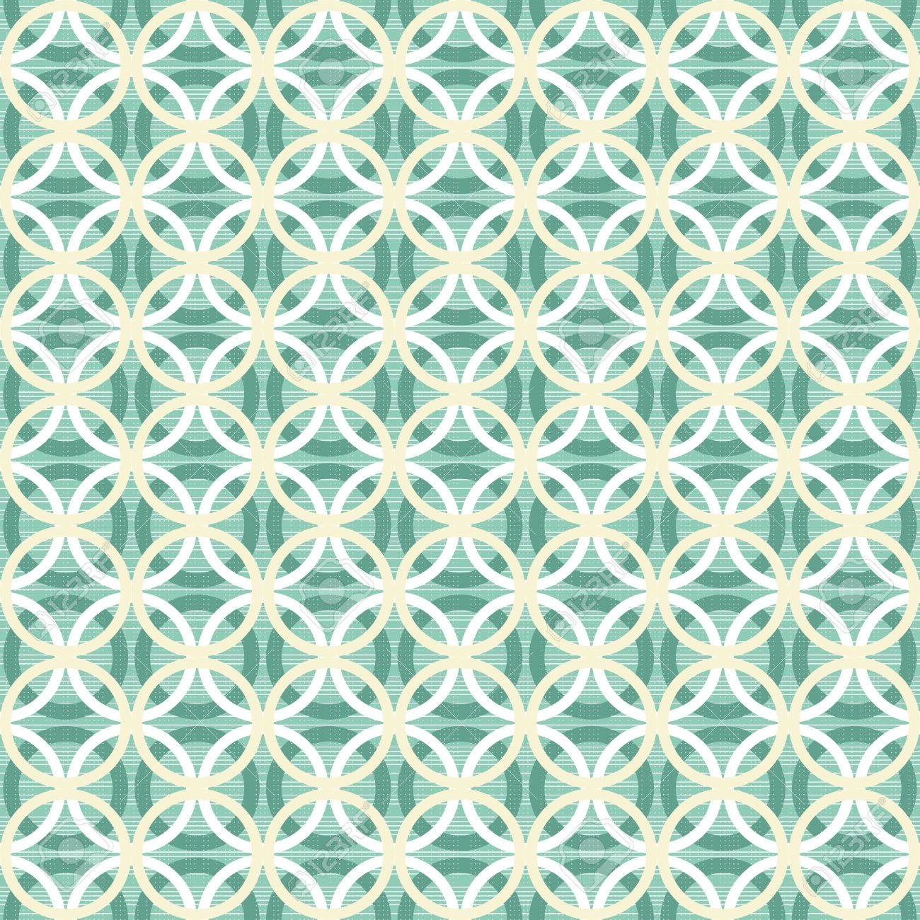 light circles in rows on turquoise background retro seamless pattern Stock Vector - 16803918