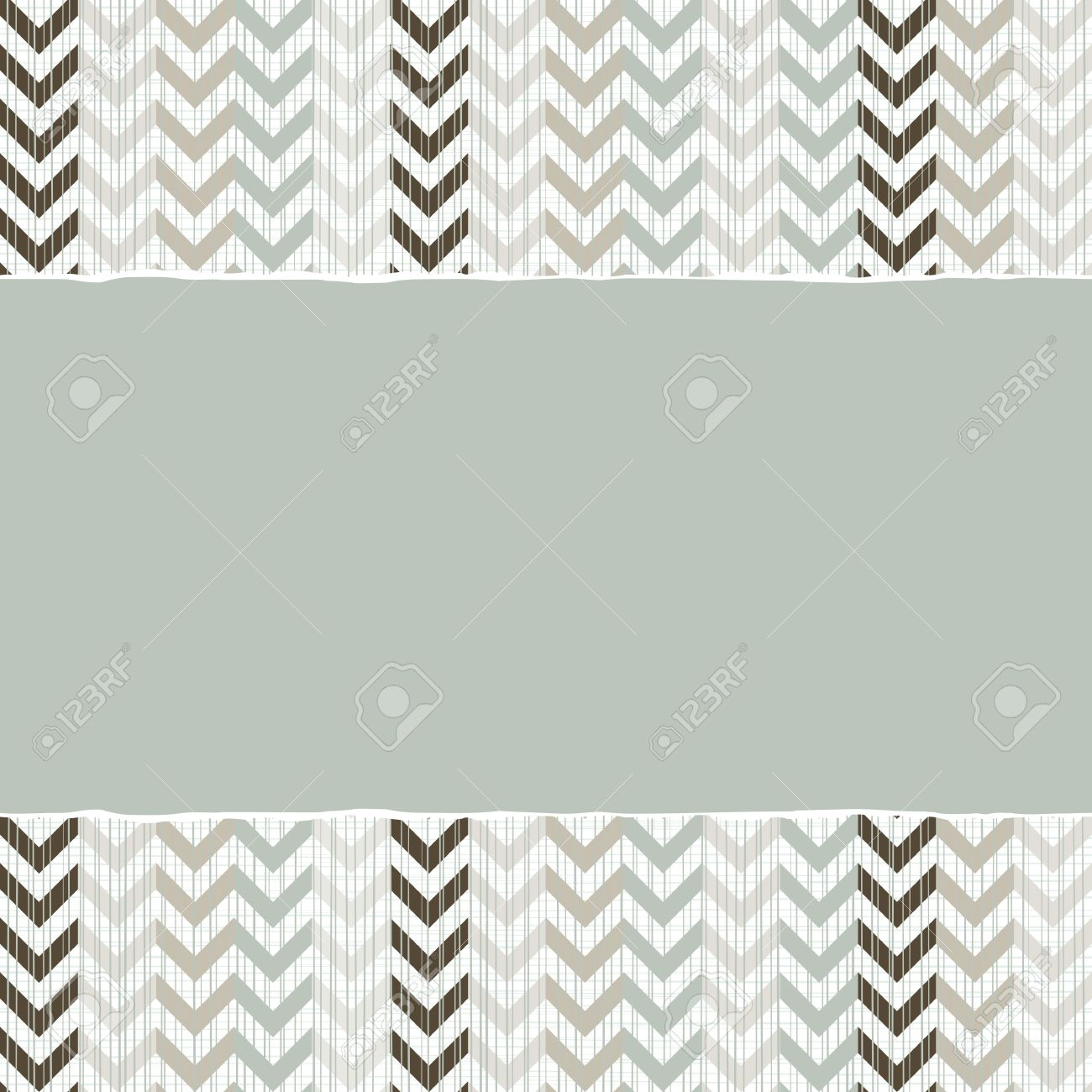 blue beige brown chevron geometric pattern in winter colors with torn paper on scrapbook horizontal background Stock Vector - 17681286