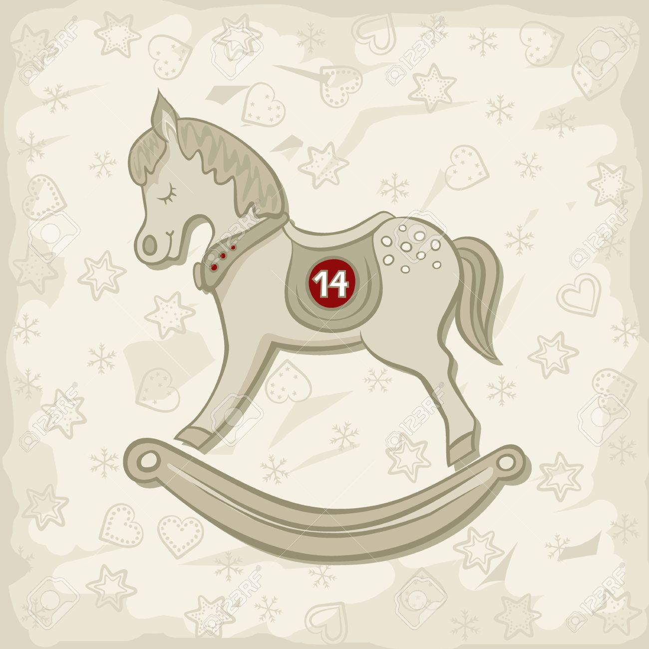 Little Beautiful Rocking Horse Vintage Toy Chinese Zodiac Sign Royalty Free Cliparts Vectors And Stock Illustration Image 24193897