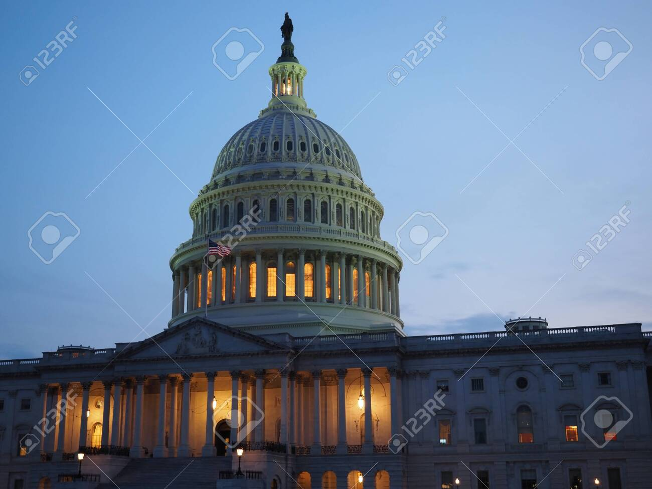 The Capitol Building in Washington D.C. on a summer night. - 145267714