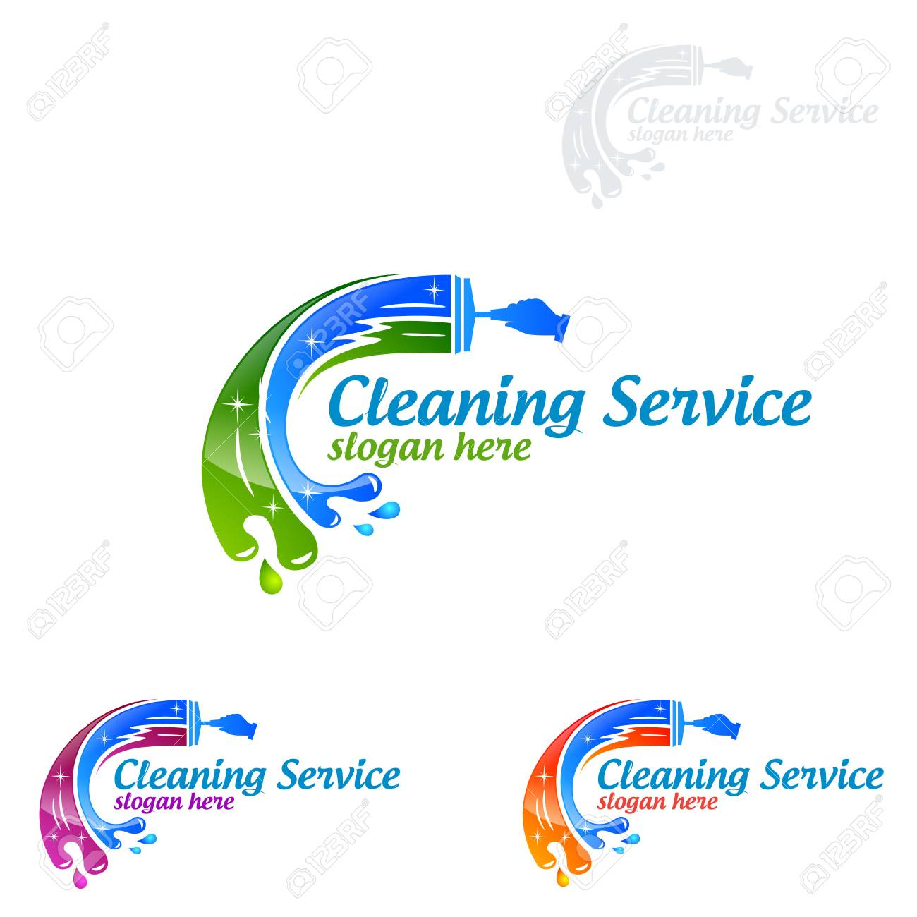 Cleaning Service Vector Logo Design Eco Friendly Concept For Royalty Free Cliparts Vectors And Stock Illustration Image 95658686