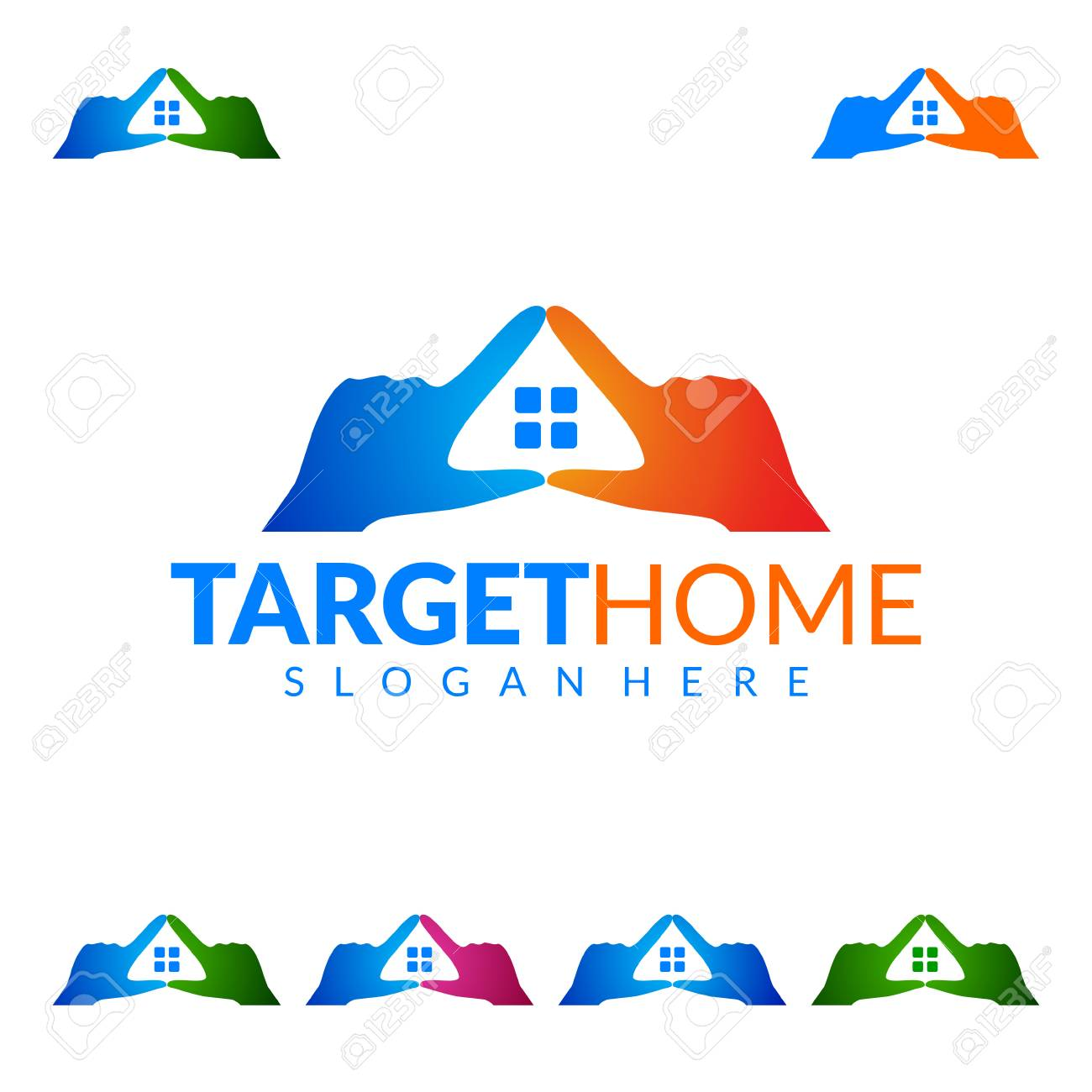 Target Home, Real Estate Vector Logo Design, Abstract Building ...
