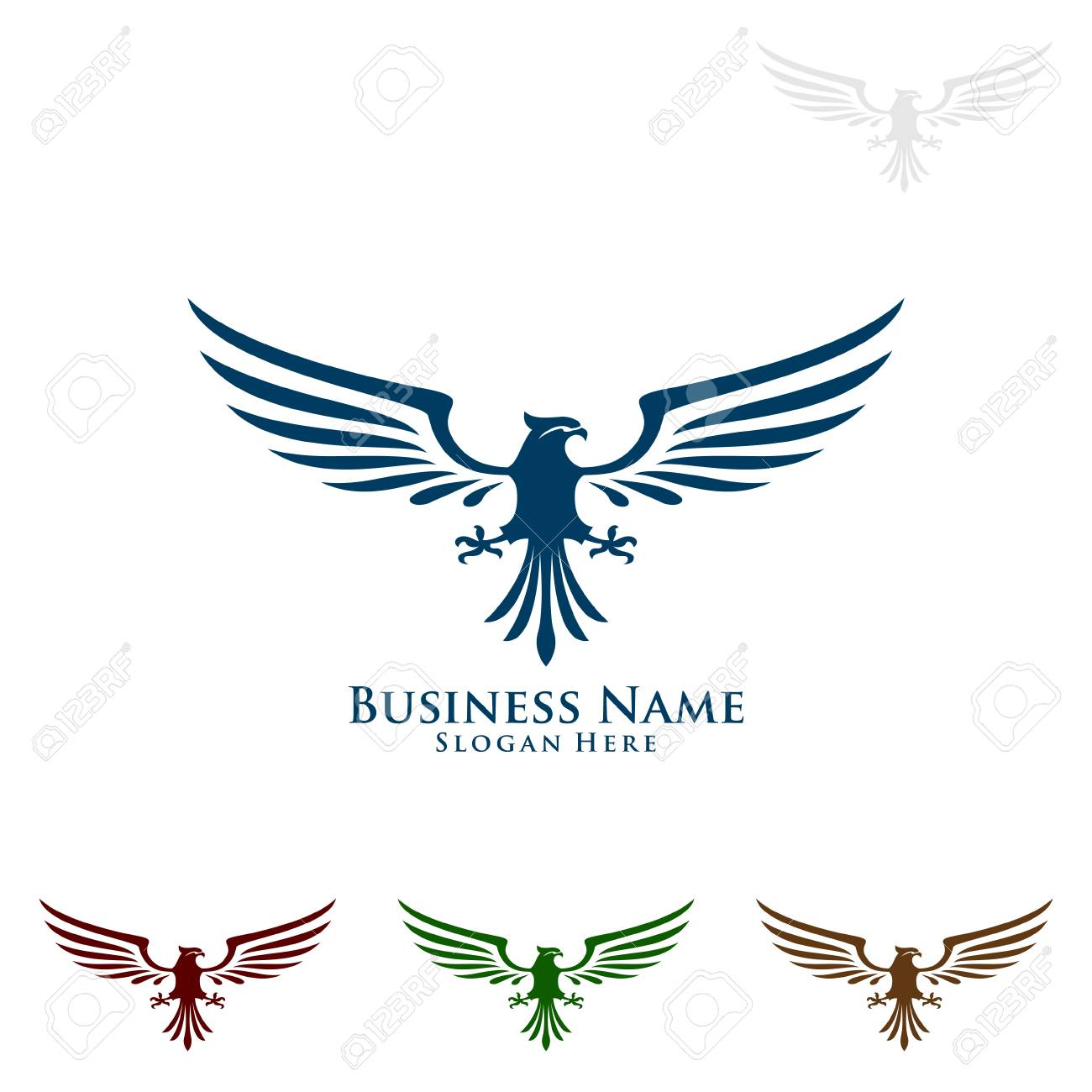 Eagle Logo Vector Wild Eagle Bird Falcon Hawk Isolated On A Royalty Free Cliparts Vectors And Stock Illustration Image 95860646