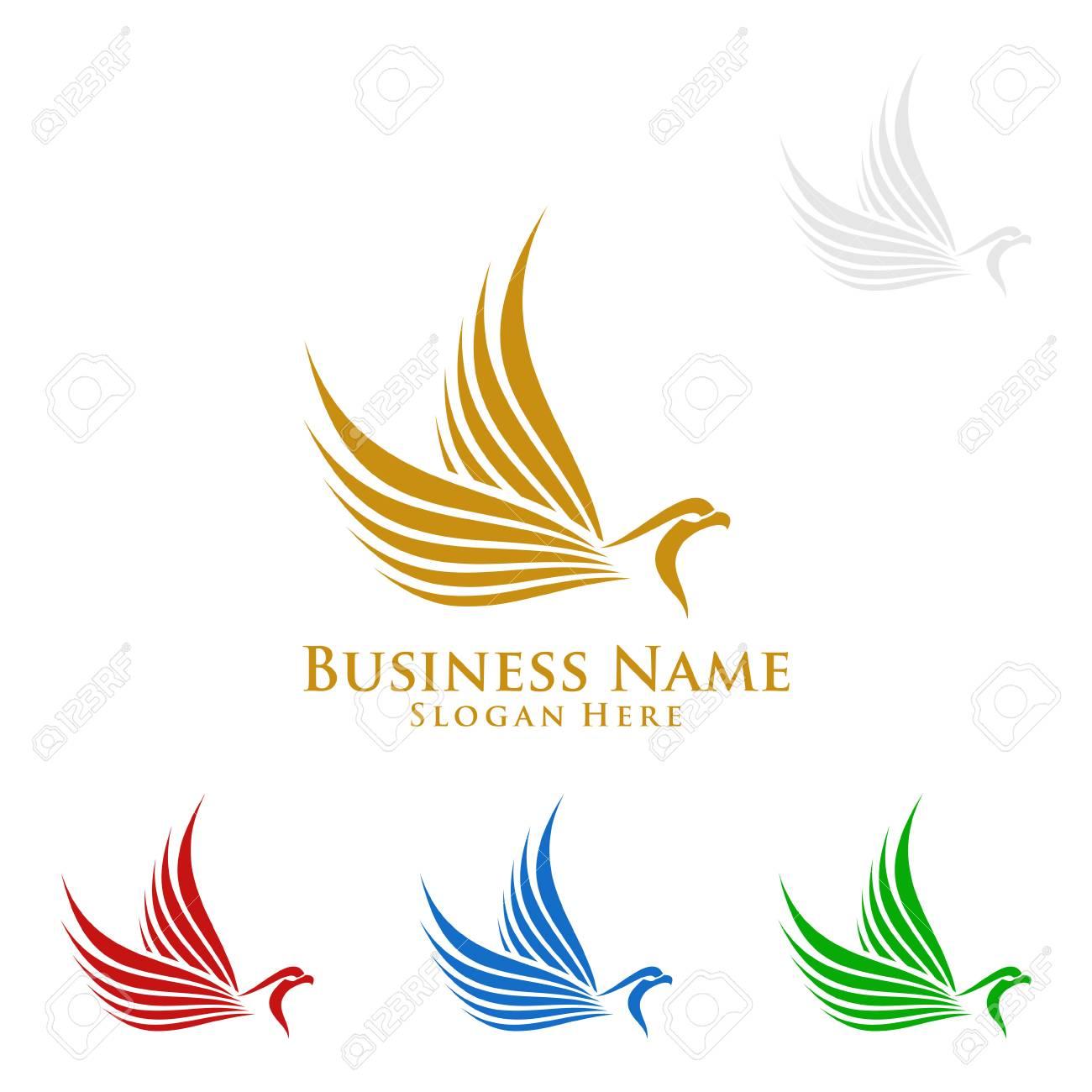 eagle logo vector wild eagle bird falcon hawk isolated on a