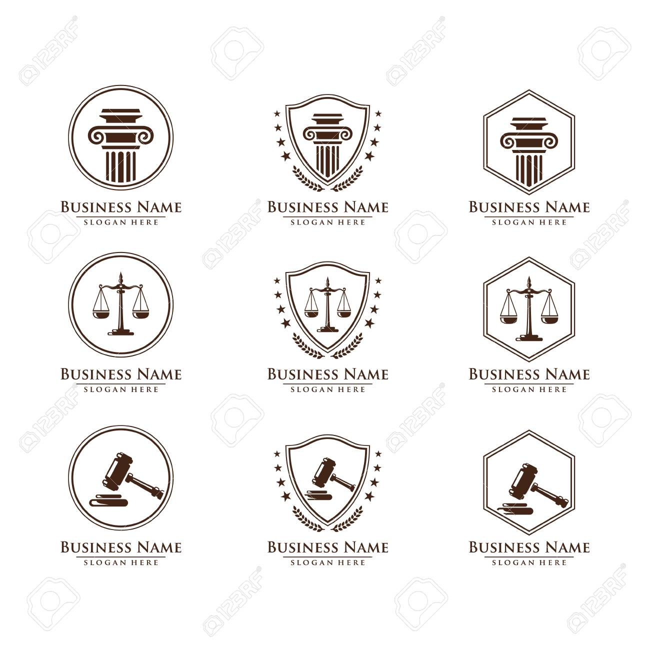 Law and Attorney logo, elegant Law and Attorney Firm vector Logo