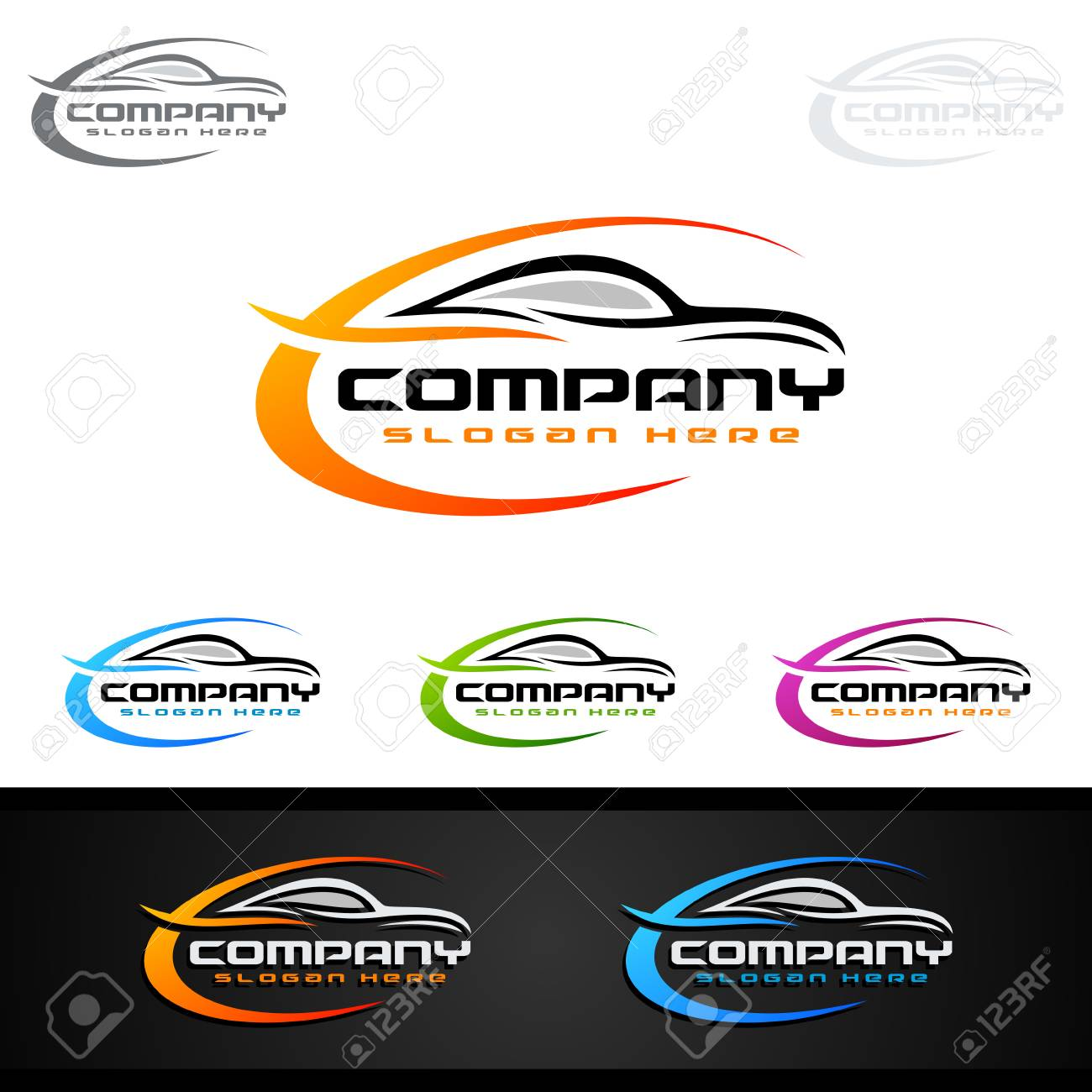 Auto Car Logo For Sport Cars Rent Wash Or Mechanic