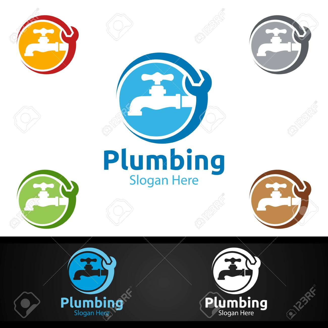 Plumbing with Water and Fix Home Concept Design - 154160793