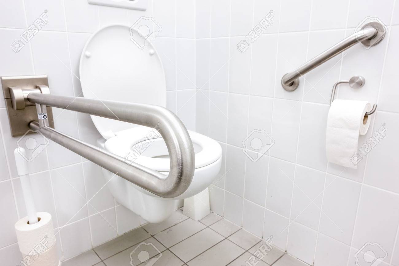 public disabled toilet in a large building - 36061938