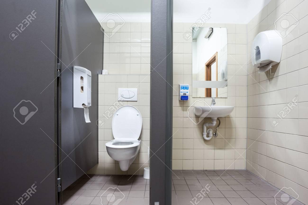 an public toilet in an public building - 52888555