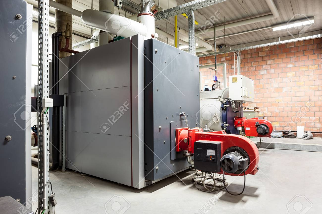 in a separate building, this industrial gas burners for heating the complex - 122572248