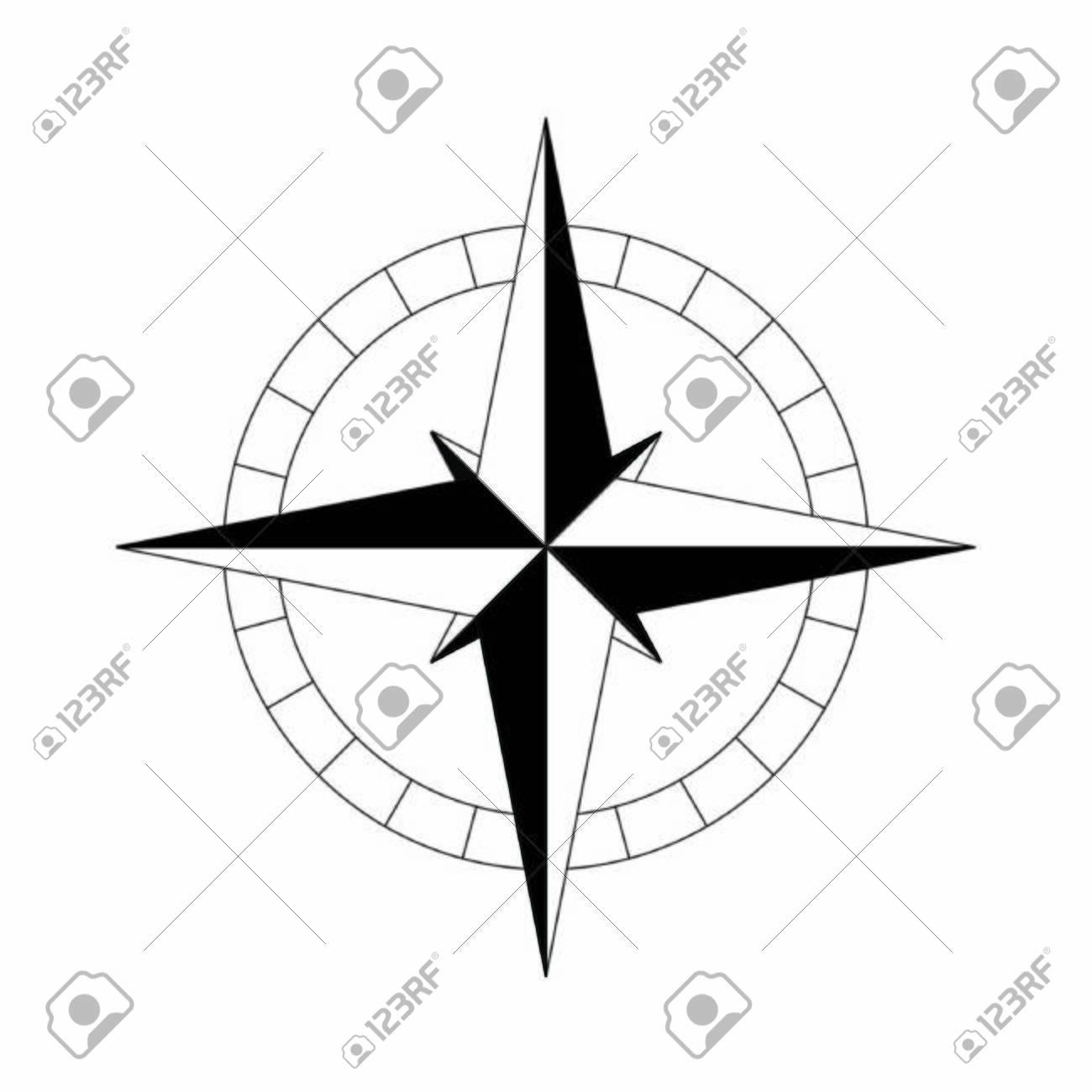 compass simple black icon. Vector illustration - 131545311