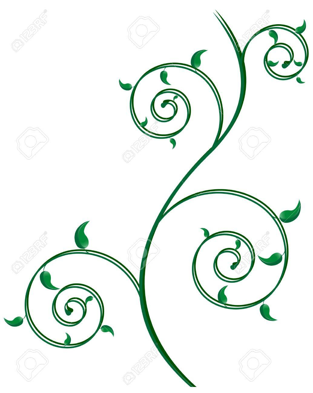 abstract spiral background; clip-art Stock Vector - 4356606