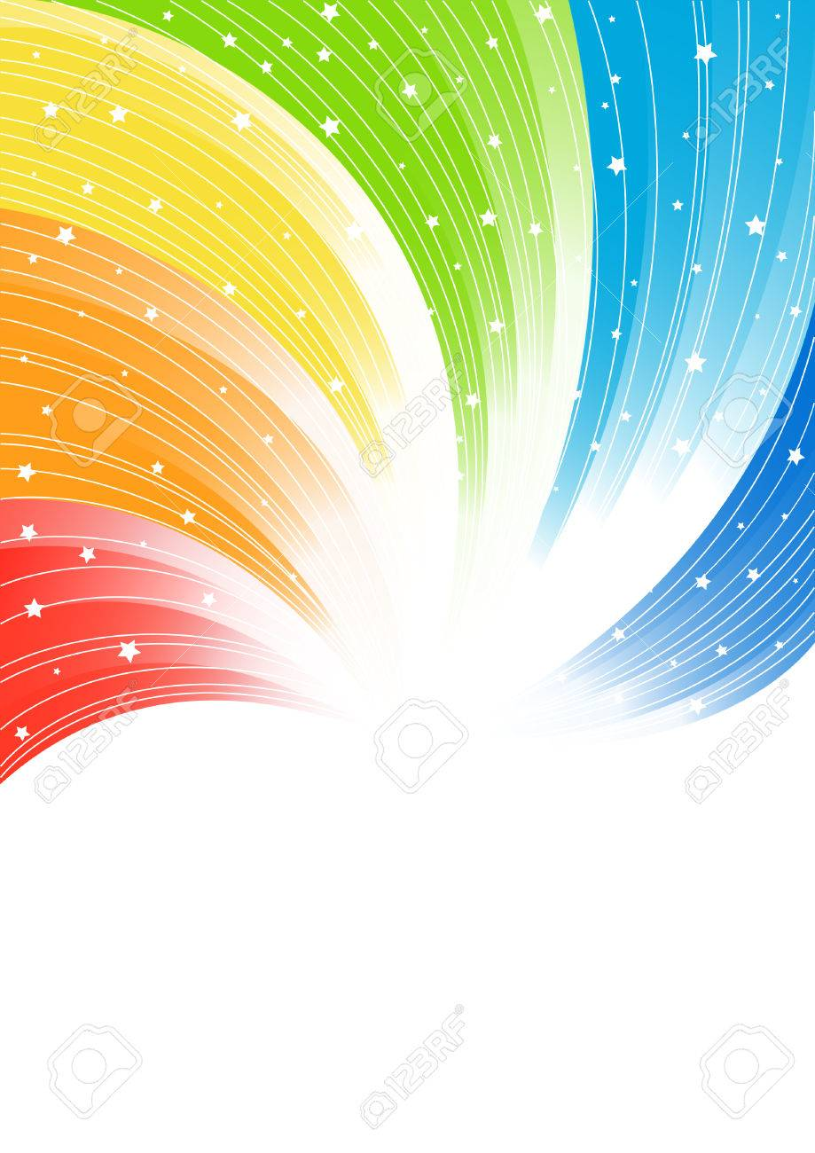 Vector abstract colorful background; clip-art Stock Vector - 5377351